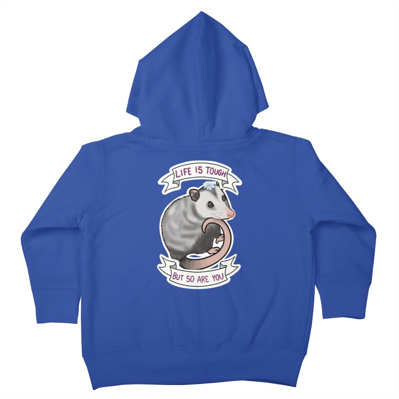 Youre tougher than you think Kids Toddler Zip-Up Hoody by AnimeGravy