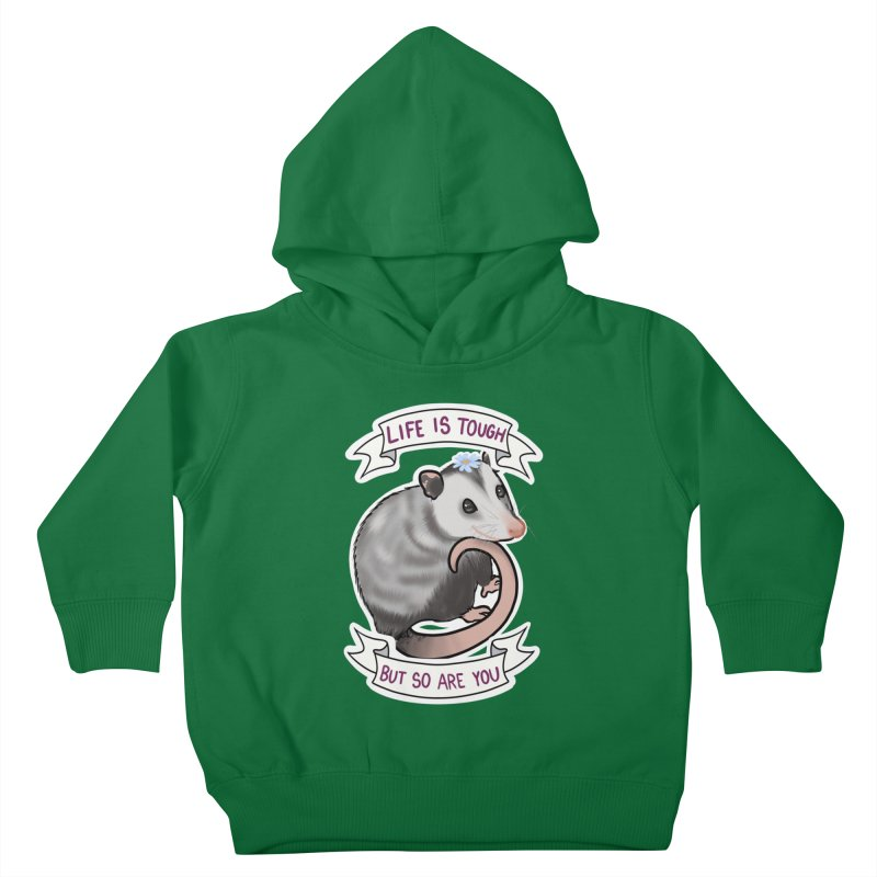 Youre tougher than you think Kids Toddler Pullover Hoody by AnimeGravy