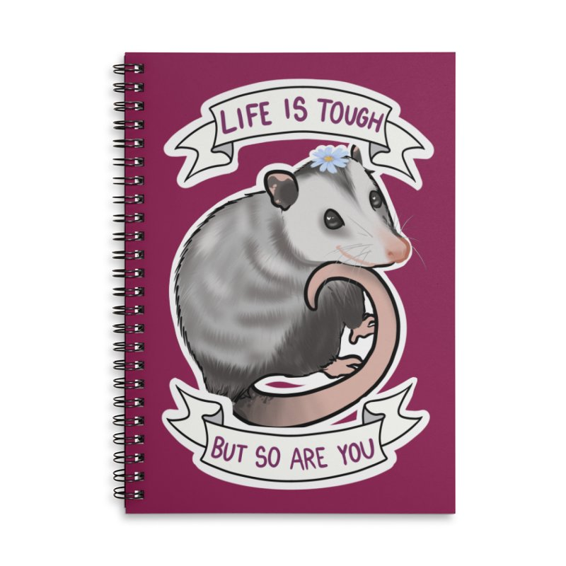 Youre tougher than you think Accessories Lined Spiral Notebook by AnimeGravy