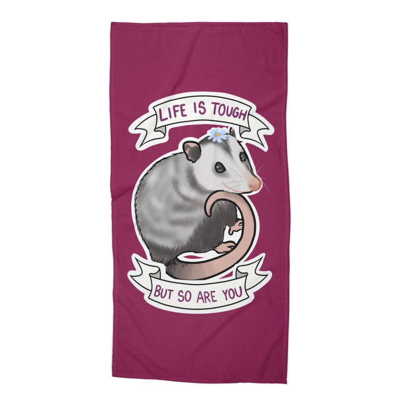 Youre tougher than you think Accessories Beach Towel by AnimeGravy