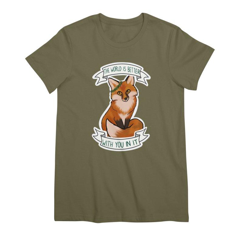 Fox Women's Premium T-Shirt by AnimeGravy