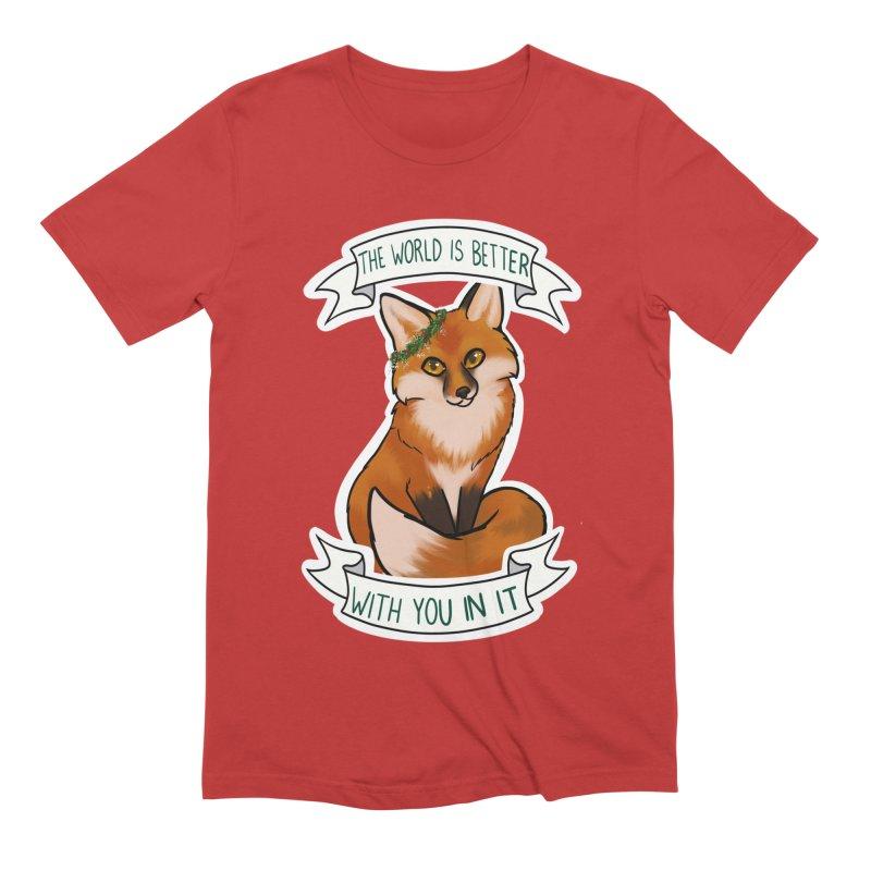 Fox Men's Extra Soft T-Shirt by AnimeGravy