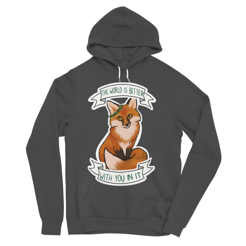 Fox Women's Sponge Fleece Pullover Hoody by AnimeGravy