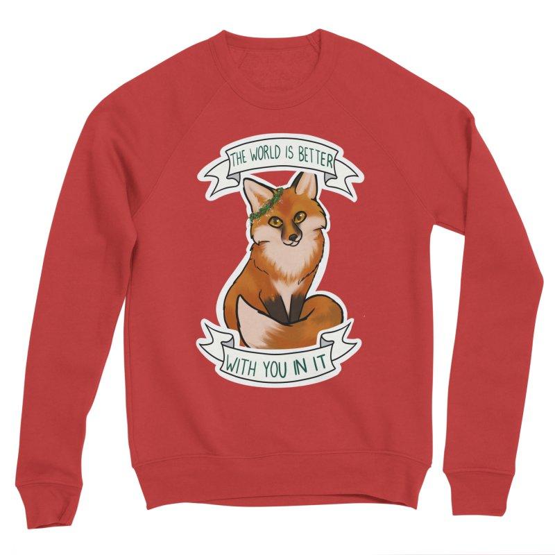 Fox Women's Sponge Fleece Sweatshirt by AnimeGravy