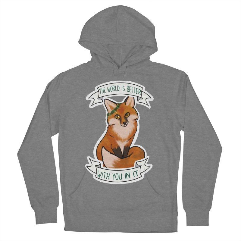 Fox Women's French Terry Pullover Hoody by AnimeGravy