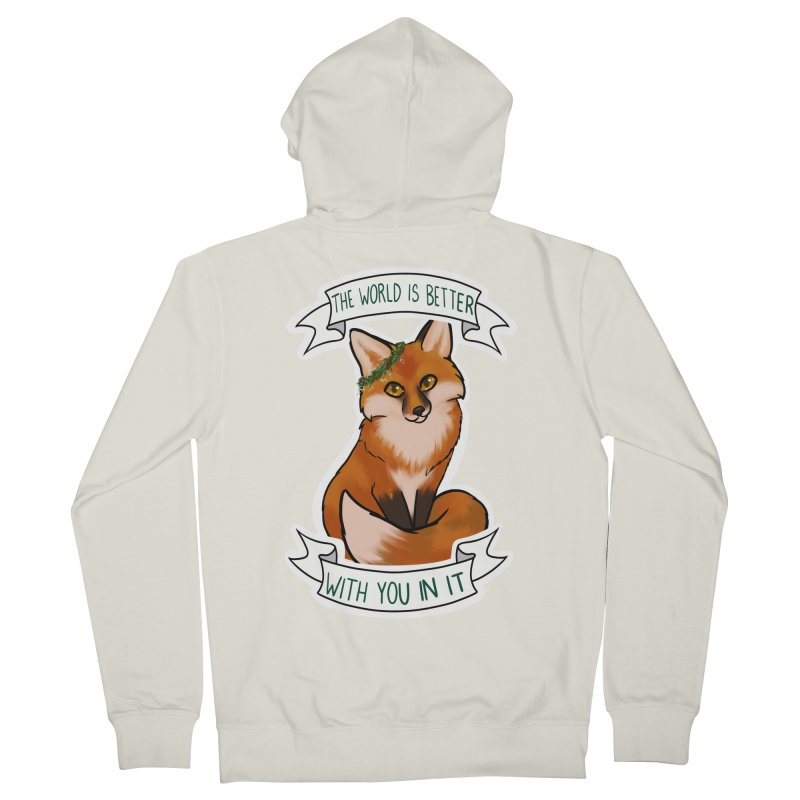 Fox Women's French Terry Zip-Up Hoody by AnimeGravy