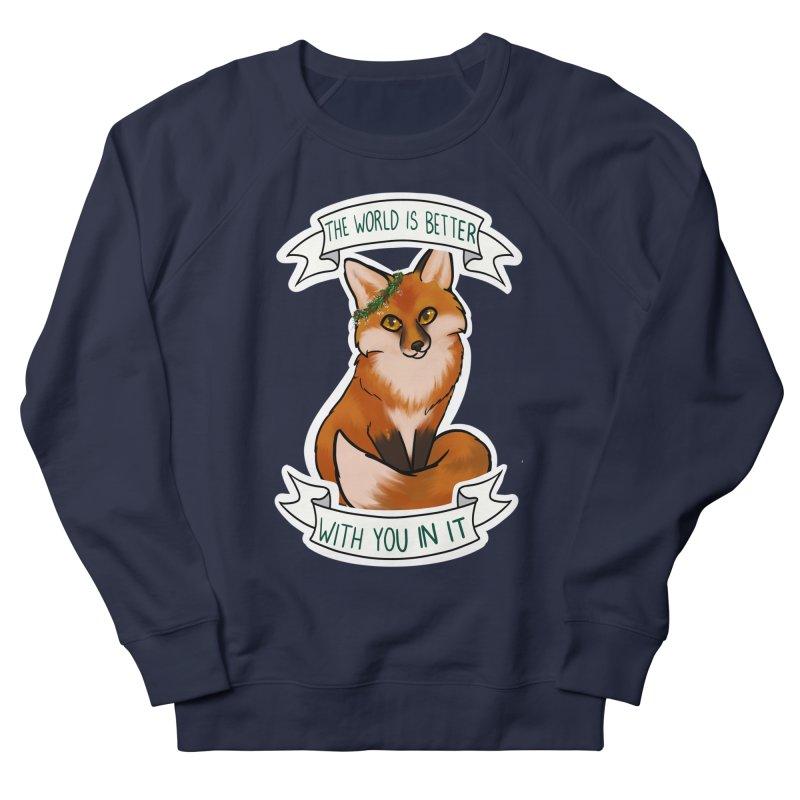 Fox Men's French Terry Sweatshirt by AnimeGravy
