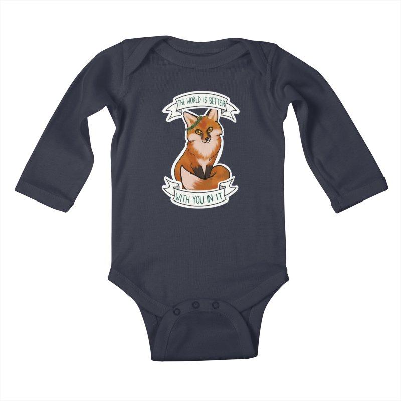 Fox Kids Baby Longsleeve Bodysuit by AnimeGravy