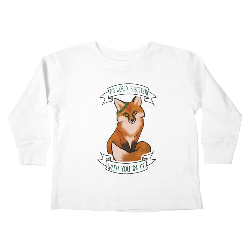 Fox Kids Toddler Longsleeve T-Shirt by AnimeGravy