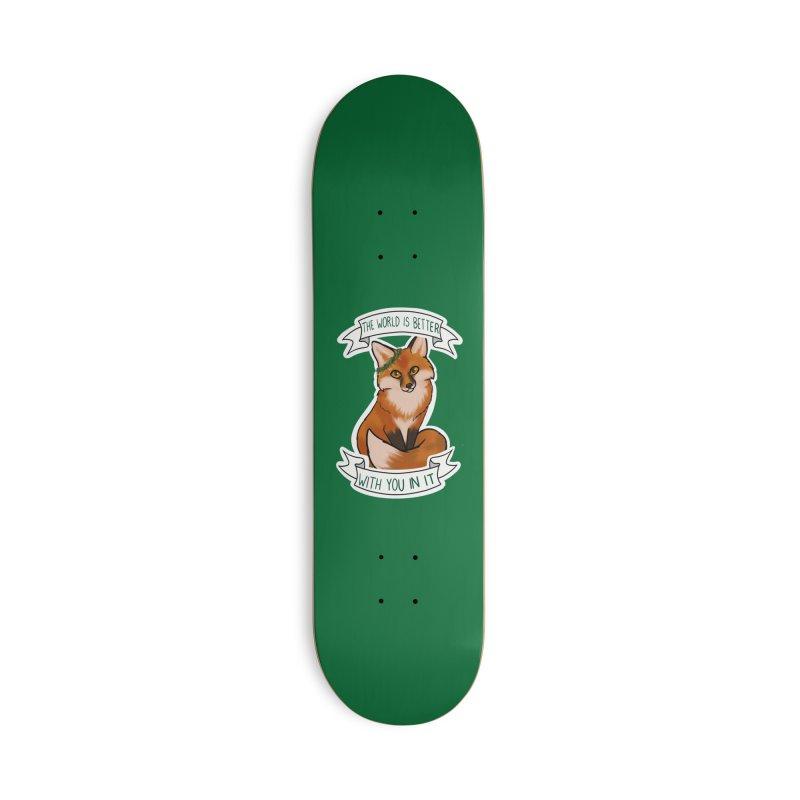 Fox Accessories Skateboard by AnimeGravy