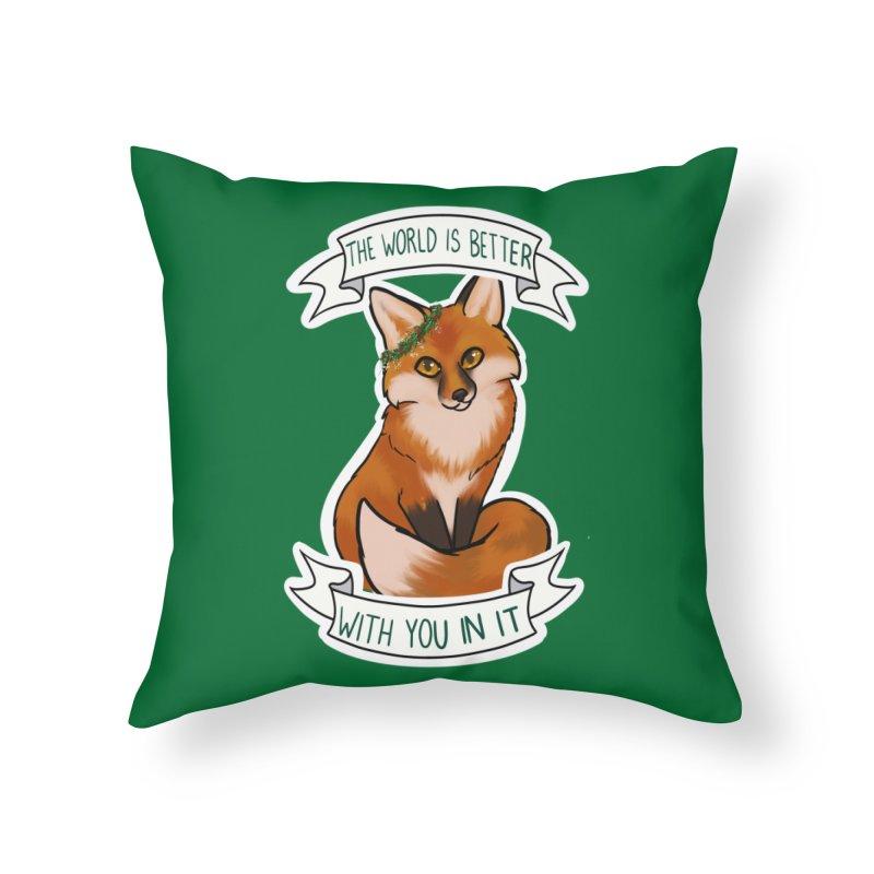 Fox Home Throw Pillow by AnimeGravy