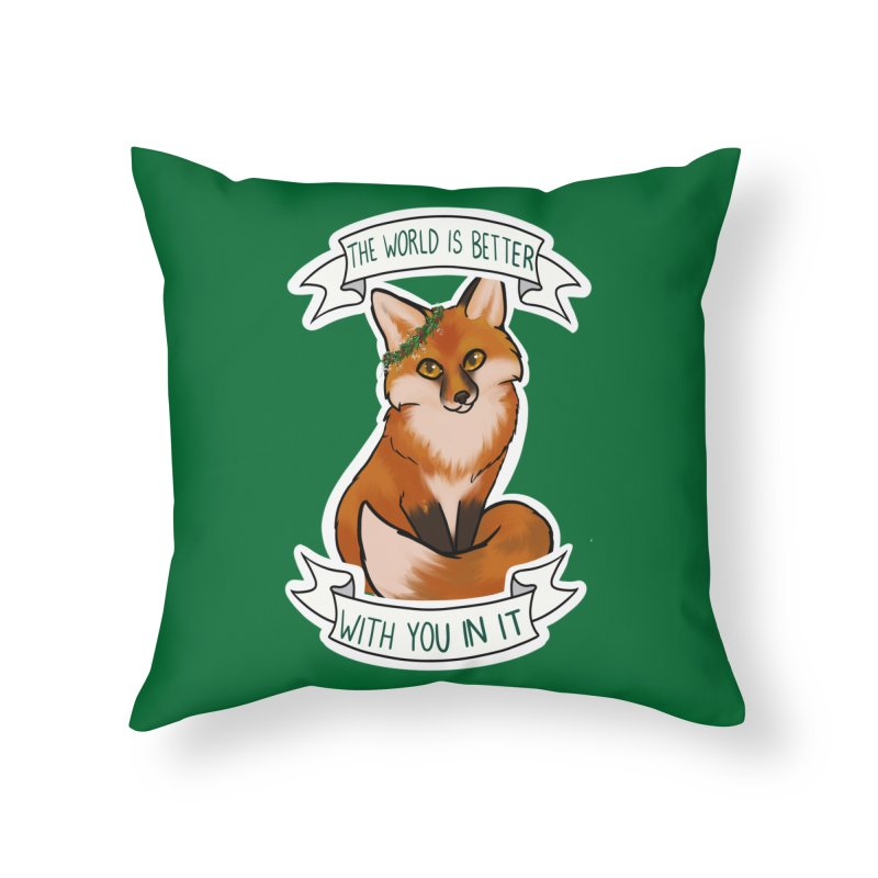 Fox Home Throw Pillow by AnimeGravy
