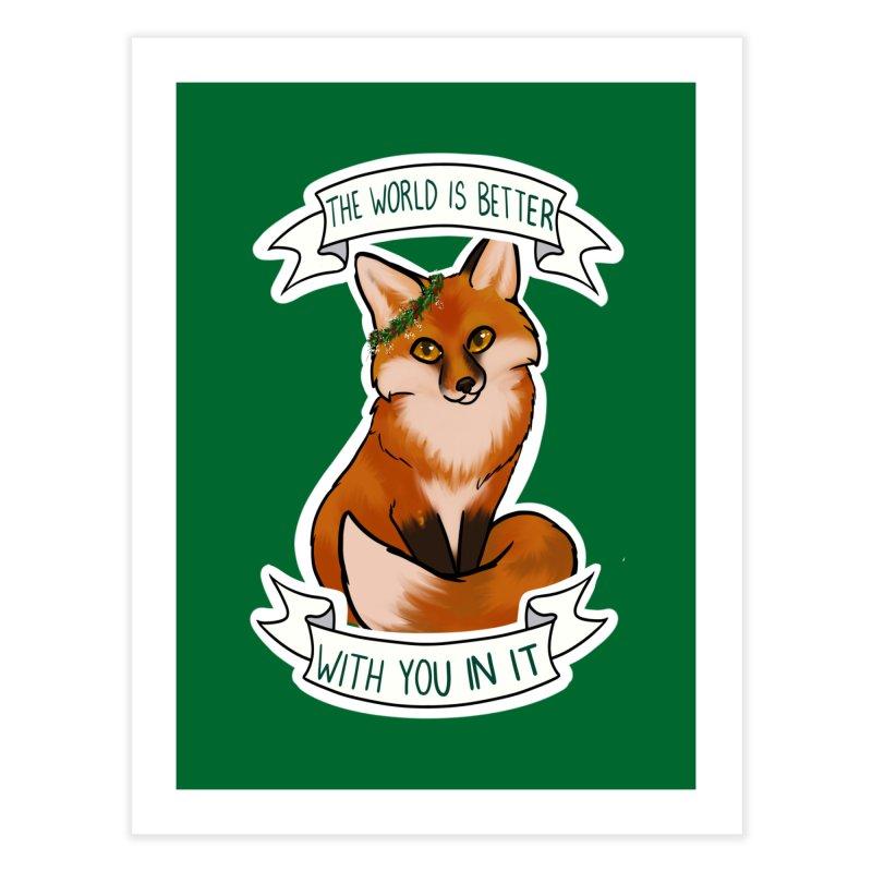 Fox Home Fine Art Print by AnimeGravy