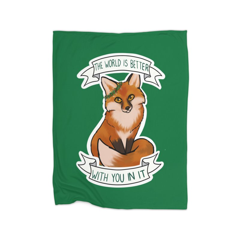 Fox Home Fleece Blanket Blanket by AnimeGravy