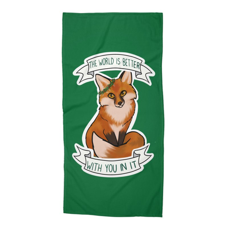 Fox Accessories Beach Towel by AnimeGravy