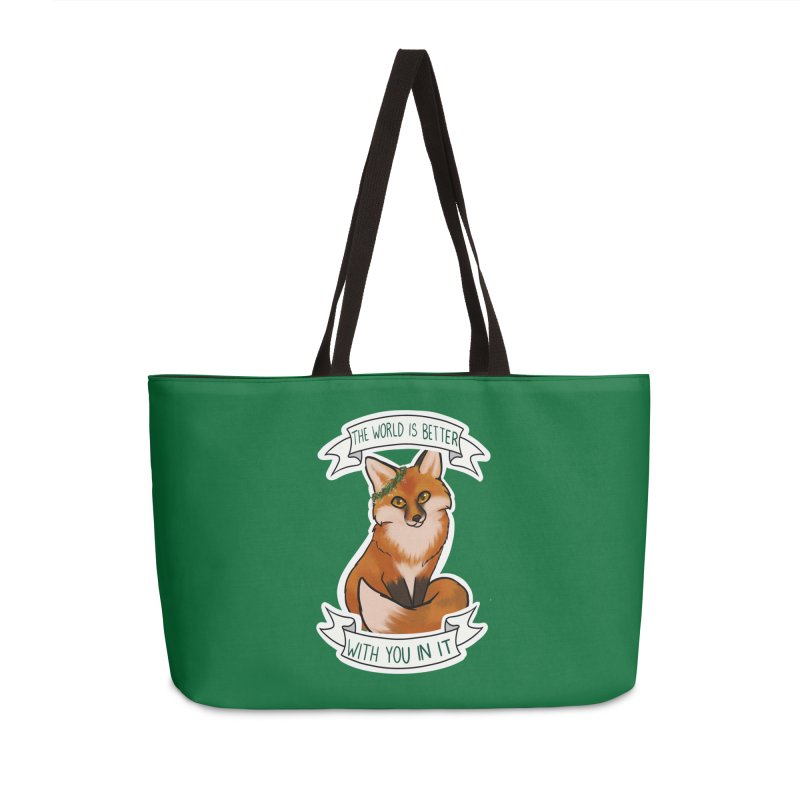 Fox Accessories Weekender Bag Bag by AnimeGravy
