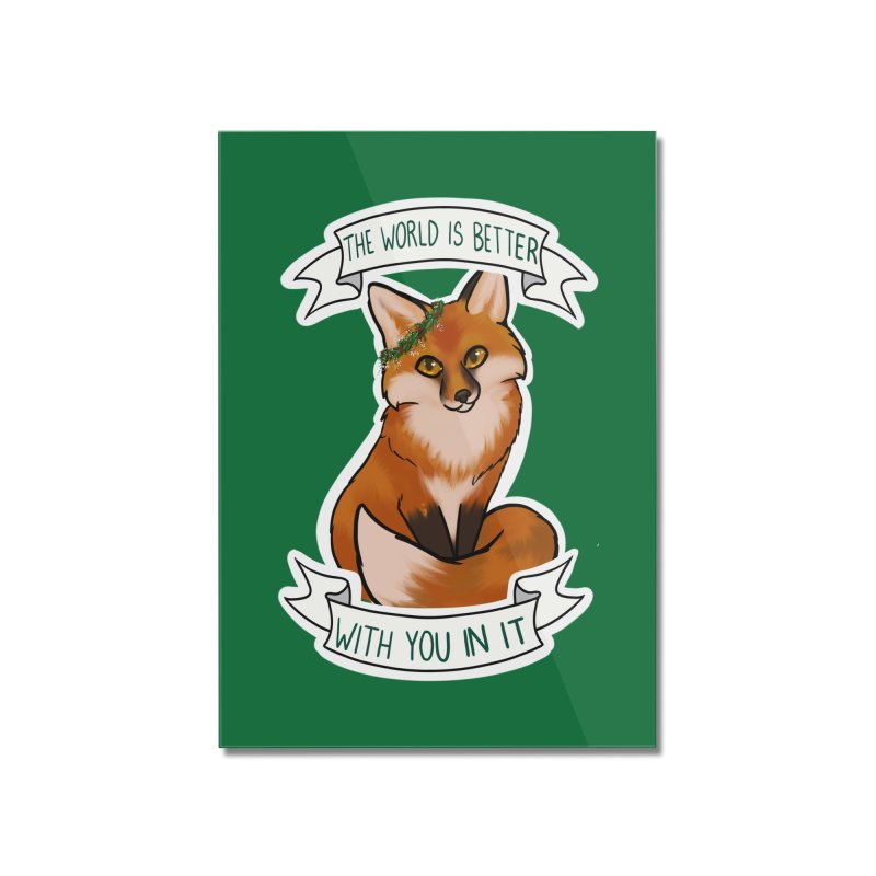 Fox Home Mounted Acrylic Print by AnimeGravy