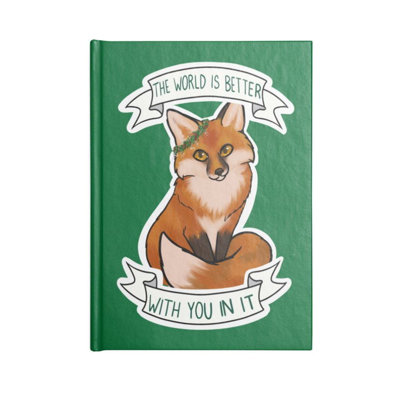 Fox Accessories Lined Journal Notebook by AnimeGravy