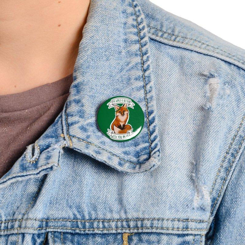 Fox Accessories Button by AnimeGravy