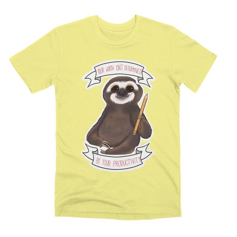 Sloth Men's Premium T-Shirt by AnimeGravy