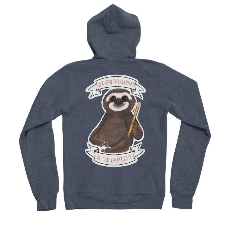 Sloth Men's Sponge Fleece Zip-Up Hoody by AnimeGravy