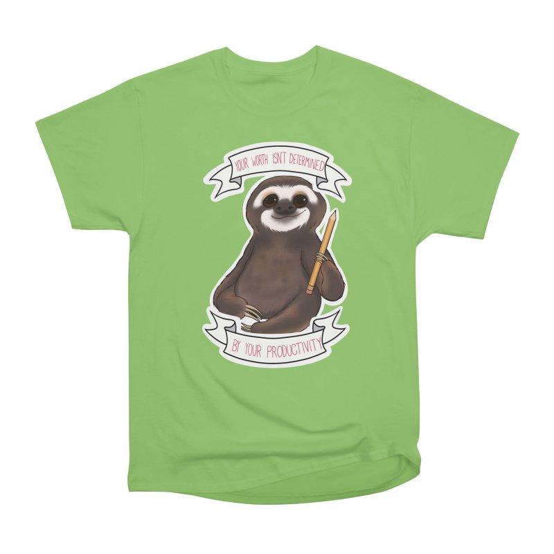 Sloth Women's Heavyweight Unisex T-Shirt by AnimeGravy
