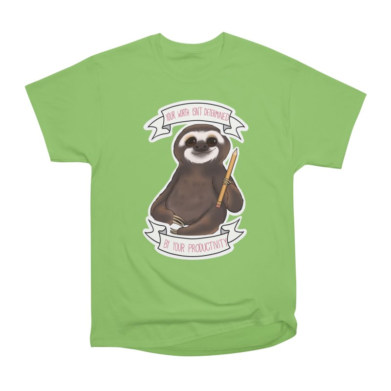 Sloth Men's Heavyweight T-Shirt by AnimeGravy