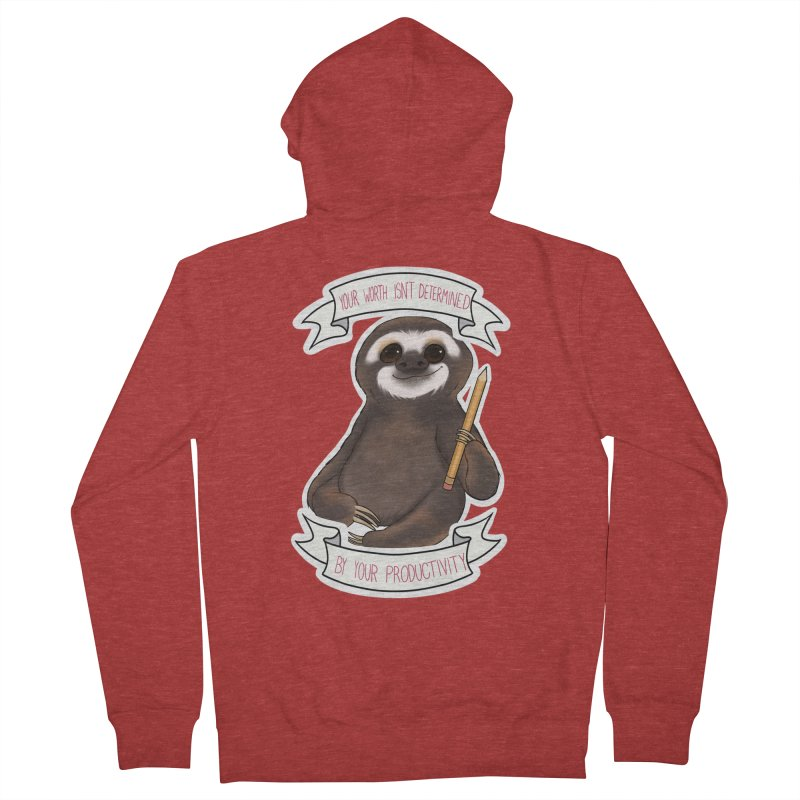Sloth Women's French Terry Zip-Up Hoody by AnimeGravy