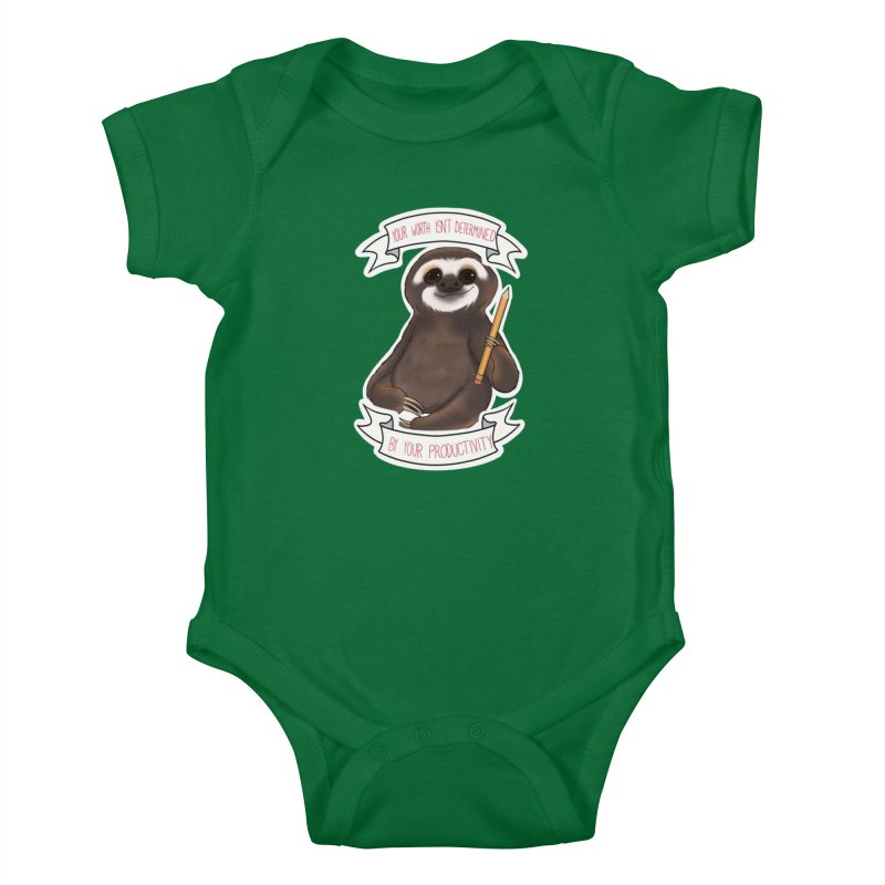 Sloth Kids Baby Bodysuit by AnimeGravy