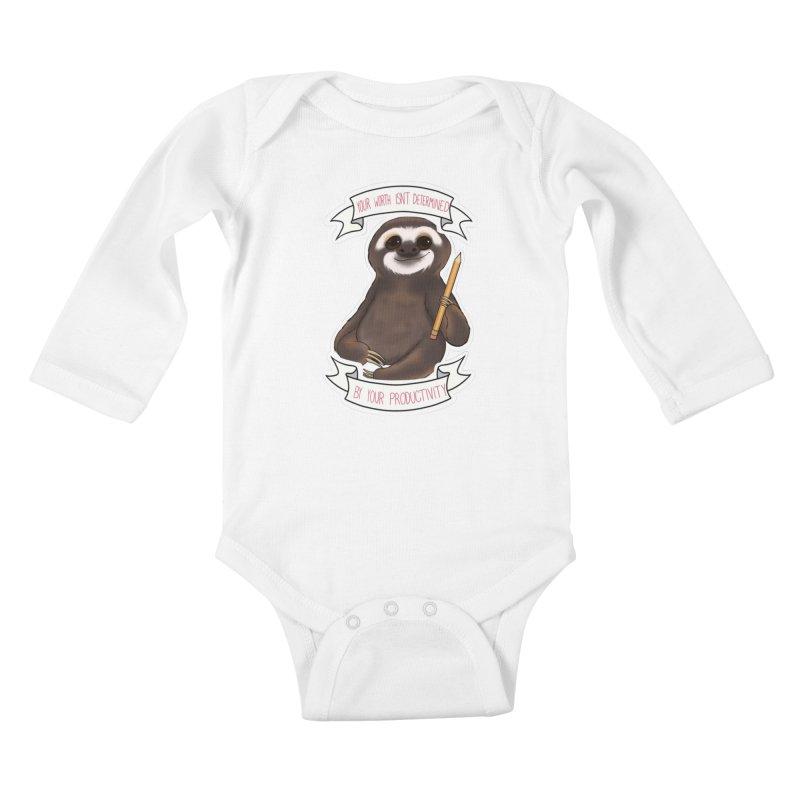 Sloth Kids Baby Longsleeve Bodysuit by AnimeGravy
