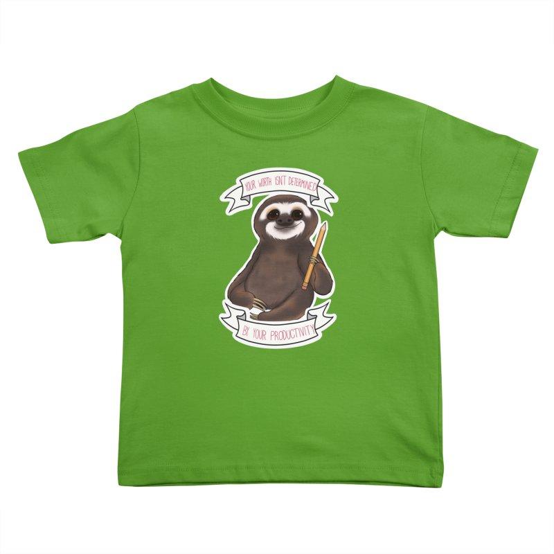Sloth Kids Toddler T-Shirt by AnimeGravy