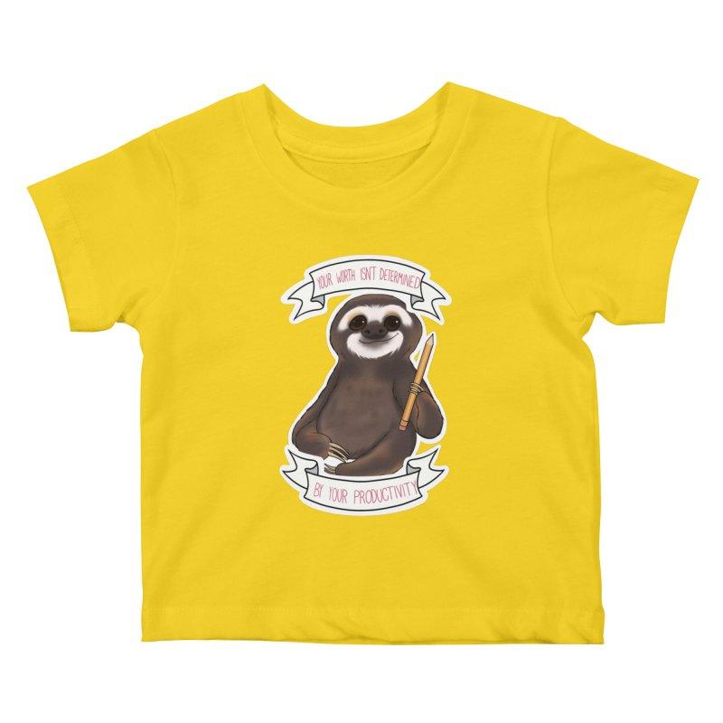 Sloth Kids Baby T-Shirt by AnimeGravy