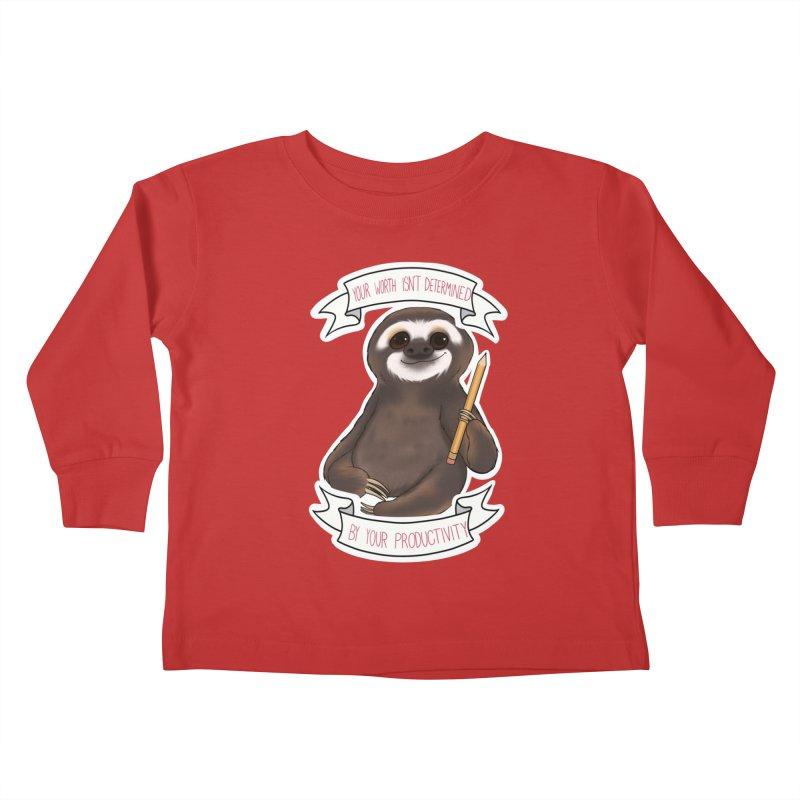 Sloth Kids Toddler Longsleeve T-Shirt by AnimeGravy
