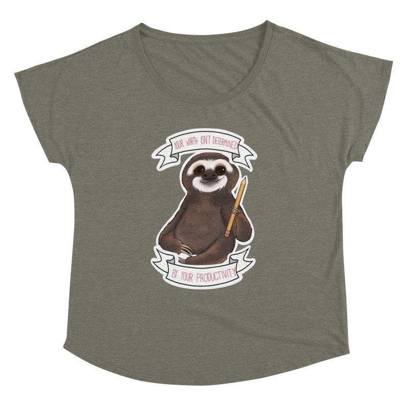 Sloth Women's Dolman Scoop Neck by AnimeGravy