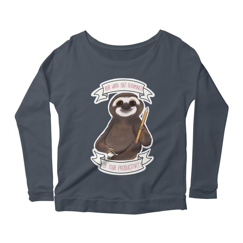 Sloth Women's Scoop Neck Longsleeve T-Shirt by AnimeGravy