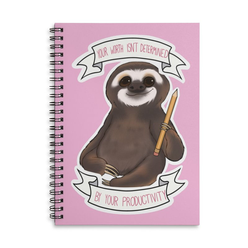 Sloth Accessories Lined Spiral Notebook by AnimeGravy