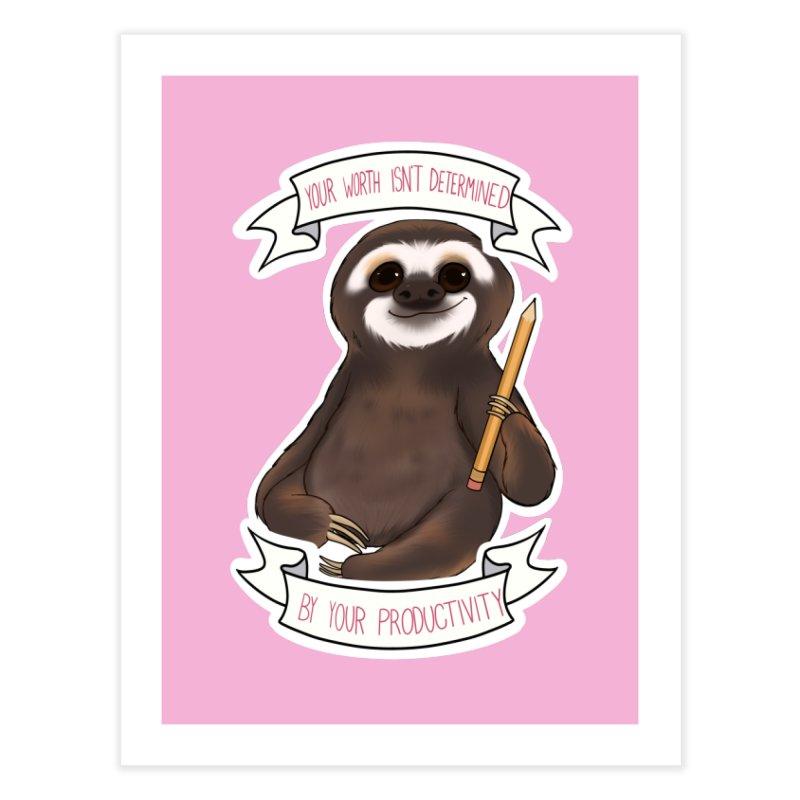 Sloth Home Fine Art Print by AnimeGravy