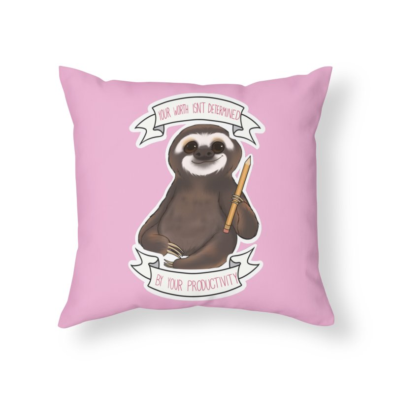 Sloth Home Throw Pillow by AnimeGravy