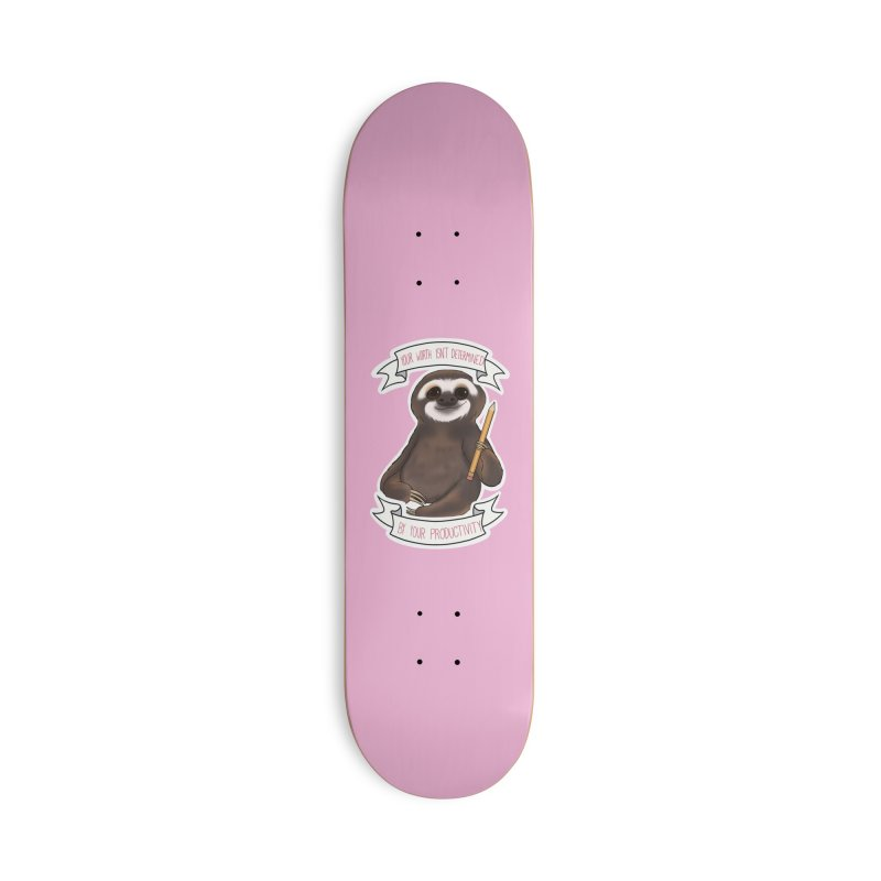 Sloth Accessories Deck Only Skateboard by AnimeGravy