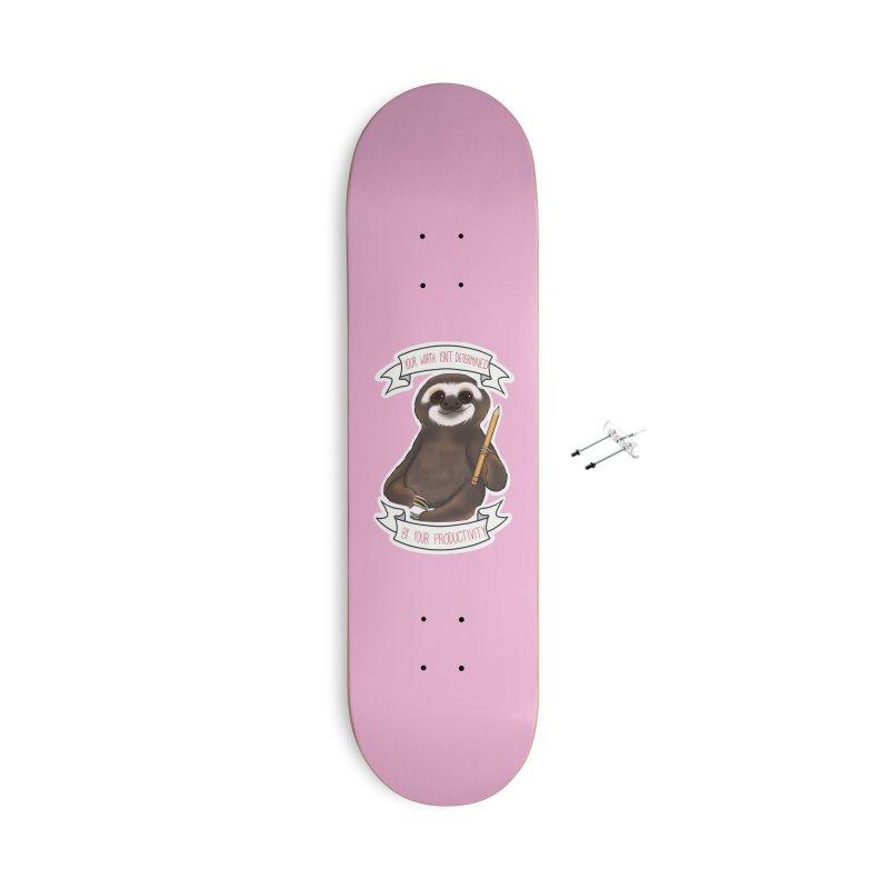 Sloth Accessories Skateboard by AnimeGravy
