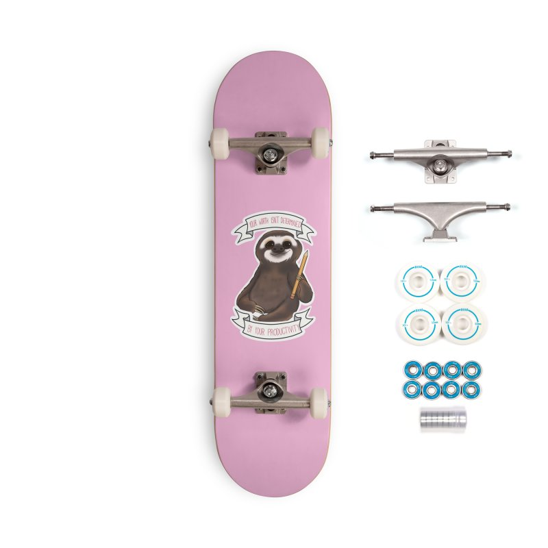 Sloth Accessories Skateboard by AnimeGravy