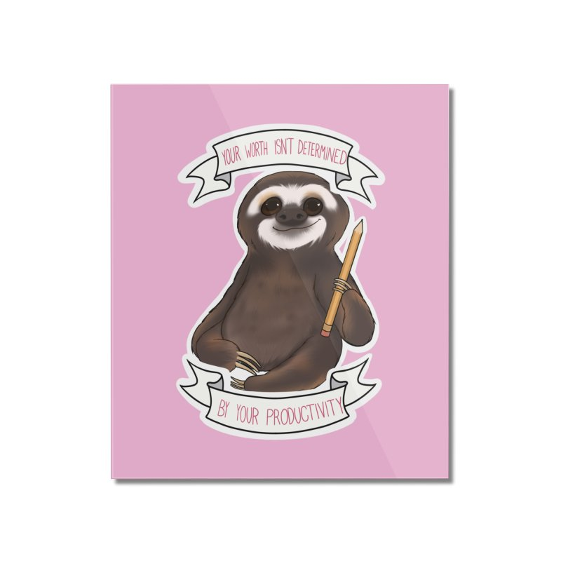 Sloth Home Mounted Acrylic Print by AnimeGravy