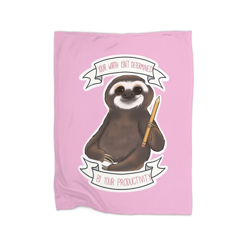 Sloth Home Fleece Blanket Blanket by AnimeGravy