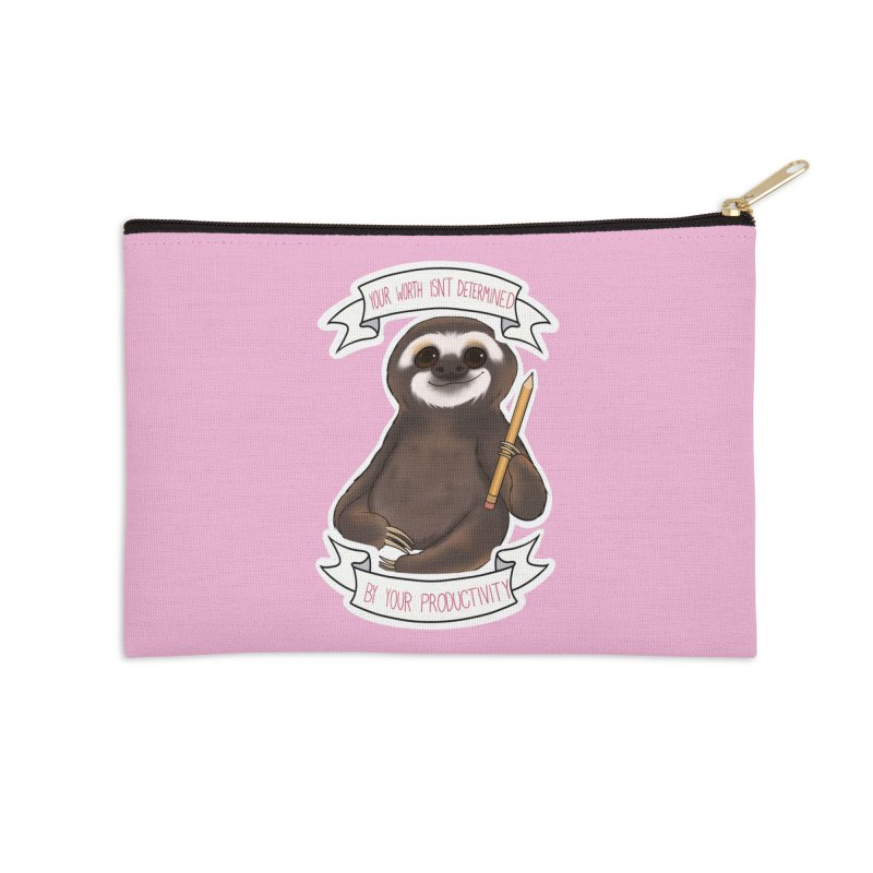 Sloth Accessories Zip Pouch by AnimeGravy