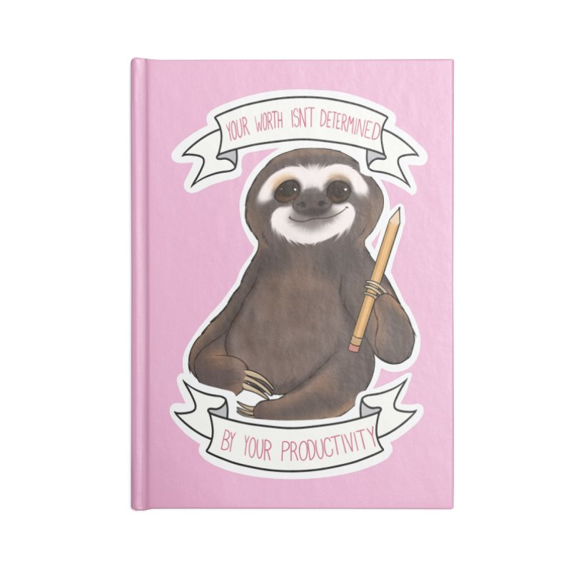 Sloth Accessories Lined Journal Notebook by AnimeGravy
