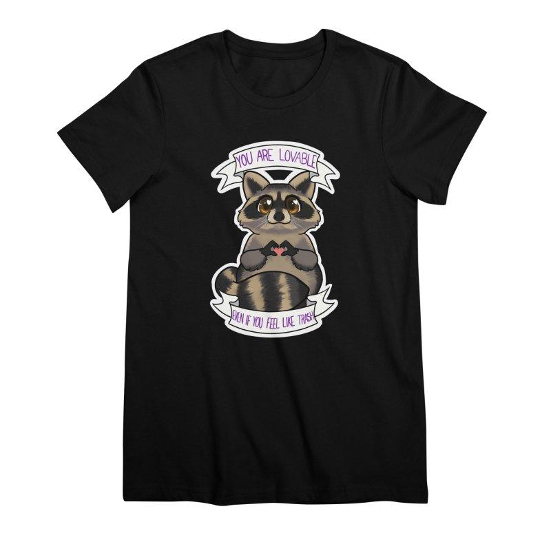 Raccoon Women's Premium T-Shirt by AnimeGravy