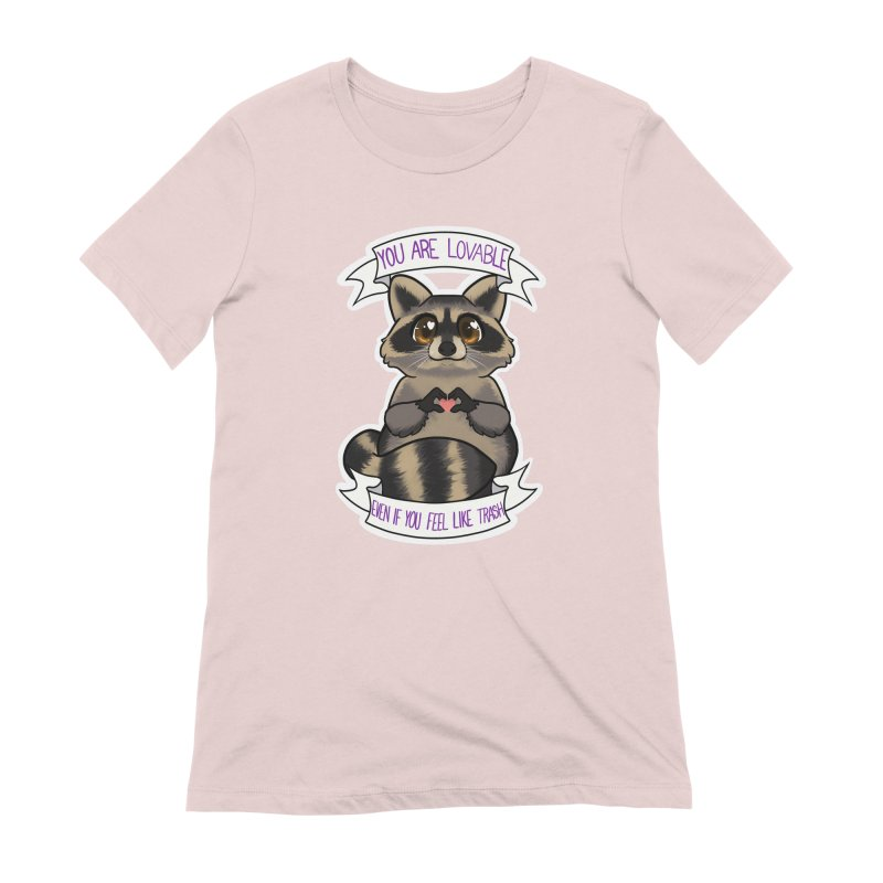 Raccoon Women's Extra Soft T-Shirt by AnimeGravy