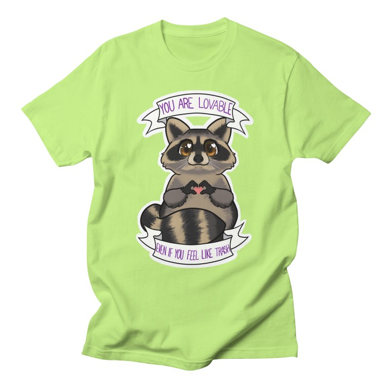 Raccoon Men's T-Shirt by AnimeGravy