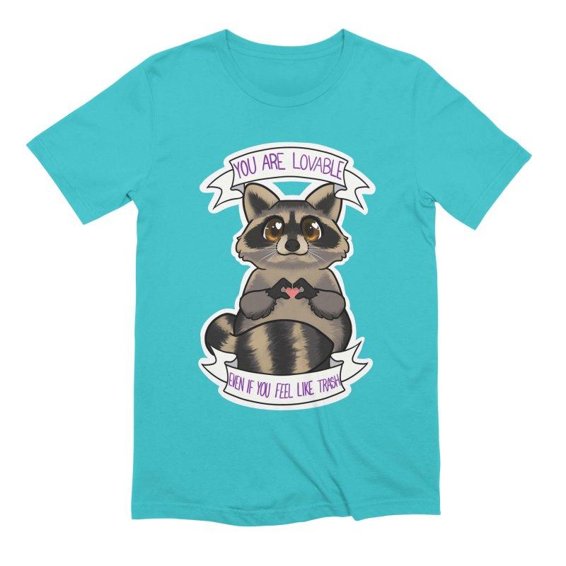 Raccoon Men's Extra Soft T-Shirt by AnimeGravy