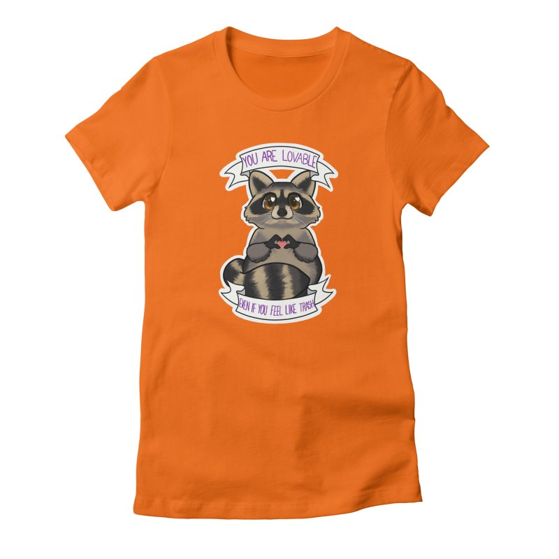 Raccoon Women's Fitted T-Shirt by AnimeGravy
